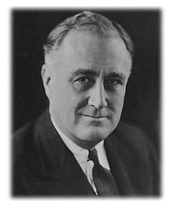 Franklin D. Roosevelt, 1933. Courtesy of the Franklin D. Roosevelt Library and Museum website; version date 2010. (Photo edited.)