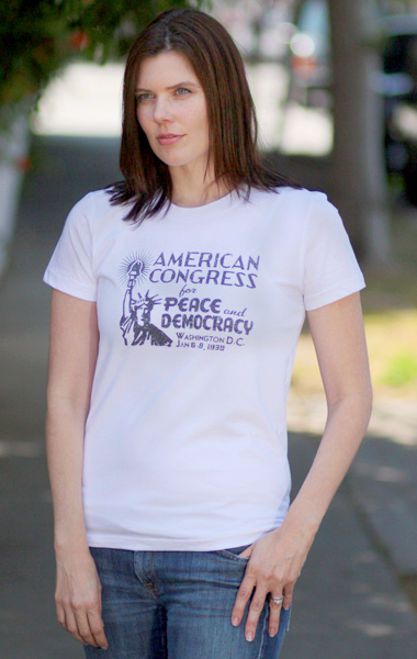 American League for Peace and Democracy T-Shirt Womens