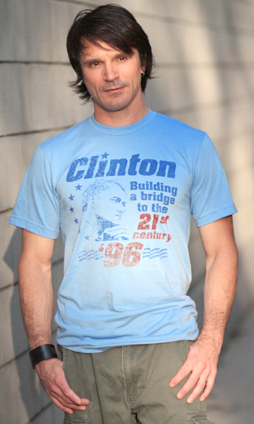 Bill Clinton 'Building a Bridge' 1996 Presidential Campaign T-Shirt - Unisex