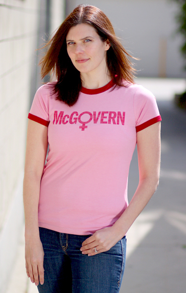 George McGovern Womens Symbol 1972 Presidential Campaign T-Shirt