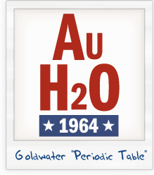 Barry Goldwater AuH2O 1964 Presidential Campaign T-Shirt