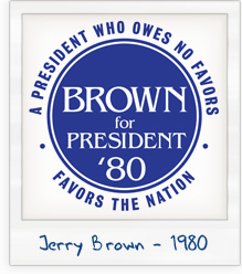 Jerry Brown for President 1980 Campaign T-Shirt