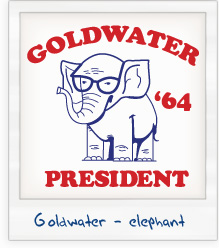 Barry Goldwater 'Elephant with Glasses' 1964 Presidential Campaign T-Shirt