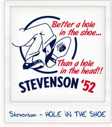 Adlai Stevenson 'Hole in the Shoe' 1952 Presidential Campaign T-Shirt