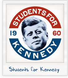 John F. Kennedy 'Students for Kennedy' 1960 Presidential Campaign T-Shirt