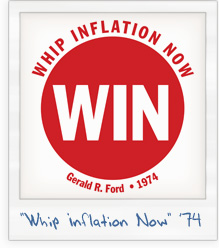 Gerald Ford 'Whip Inflation Now' 1974 T-Shirt