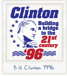 Bill Clinton 'Building a Bridge' 1996 Presidential Campaign T-Shirt